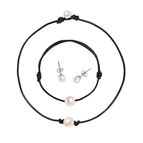 BRIGHT MOON Shell Choker Necklace Pearl Choker