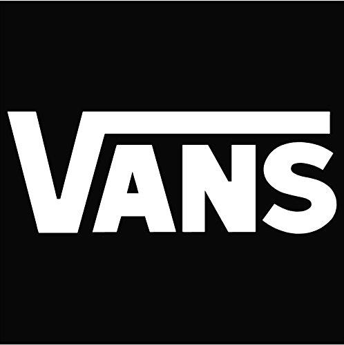 Vans Logo Vinyl Sticker Decal Decal-White-6 Inch