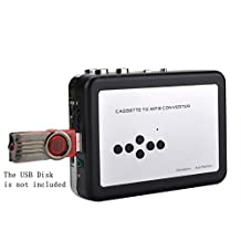 Y&H Cassette Tape Recorder Player Tapes to MP3 Digital Converter,USB Cassette Capture,Save to USB Flash Drive directly,No Need Computer