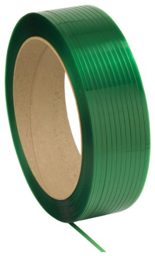 PAC Strapping 5830116T36 Polyester Dry General Purpose Machine Grade Strapping, 3,600' Length, 5/8'' Width, 0.030'' Thick, Green by PAC Strapping Products