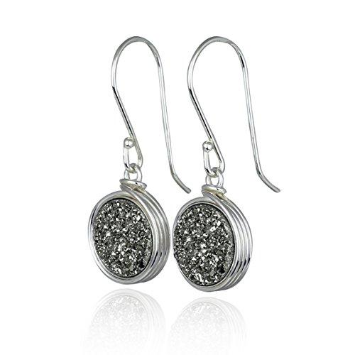 Quartz 925 Silver Hook Earrings - 6