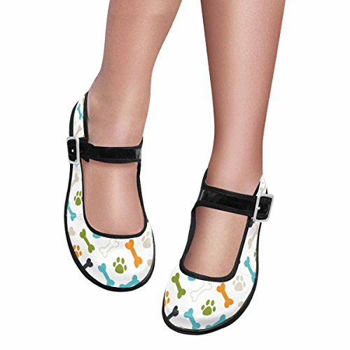 Multi Shoes Casual Walking InterestPrint 7 Comfort Womens Flats Jane Mary FwxnSZUqH8