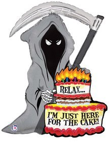 Grim Reaper Birthday Cake Candles 35
