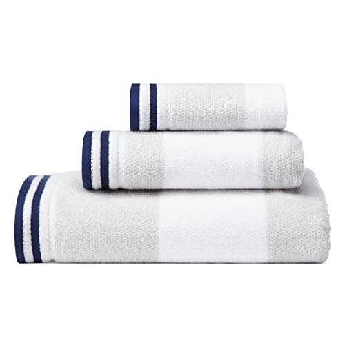 Bath Cotton Towel Nautica - Nautica Santee Towel Set, 3 Piece, Grey