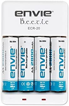 c196649e805 Buy Envie ECR 20 + 4xAA 2800 Battery Charger with Rechargeable ...