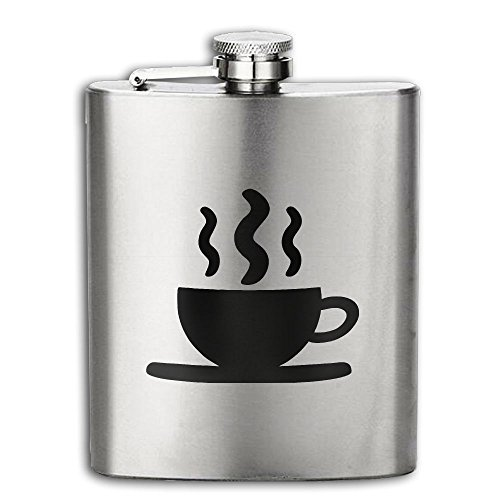 Cooby Roman Coffee Cup Black Logo Stainless Steel Pocket Flagon Shot Flask Hip Flask Wine Pot