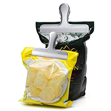 Amazon.com: Bag Clips - Stainless Steel Food Bag Clips ...