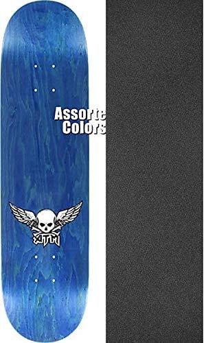 シャワー子犬期待するATMクリックスケートボードMini Wings Assorted Stained Woodgrainスケートボードデッキ – 7.5