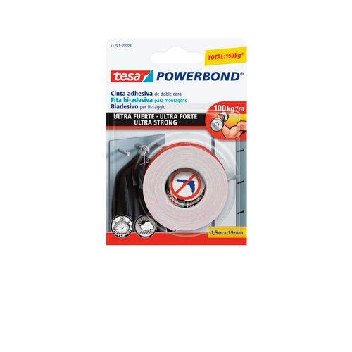 Tesa cinta doble cara powerbond ultrafuerte 1, 5mx19mm