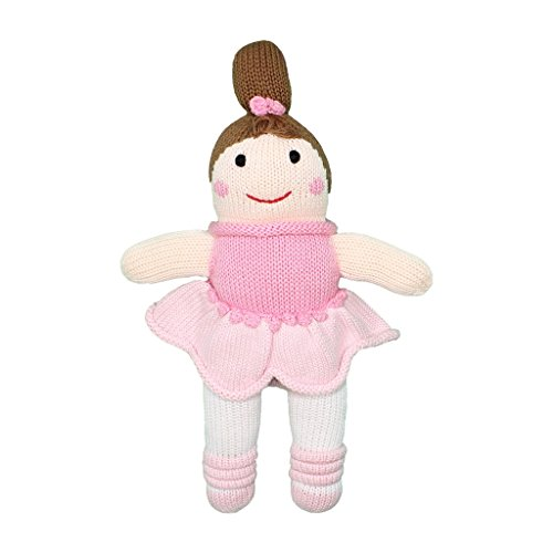 (Zubels Baby Girls' Hand-Knit Bella the Ballerina Toy, All-Natural Fibers, Eco-Friendly, Pink)