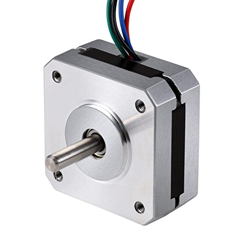 Stepper Motor Nema 17, Nema 17 Stepper Motor 1A 13N.cm Holding Torque 4-Lead 1.8 Deg 42 Motor for 3D Printer Hobby CNC Router XYZ by Beauty Star by Beauty Star