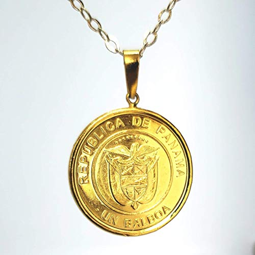 Panamanian Coin Vintage Necklace by D