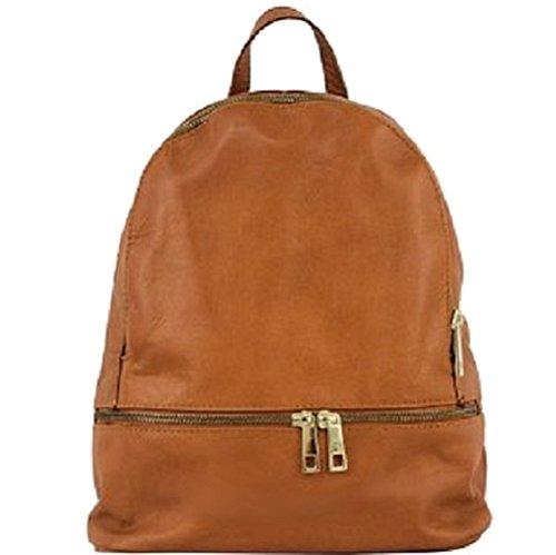 Bottega Carele - Backpack Womens Leather Bag Cognac