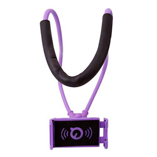 Meolin Phone Hanging on Neck Holder Lazy Neck Universal Mobile Phone Holder Lazy Bracket Cell Phone Mount Holder,Violet,As Description