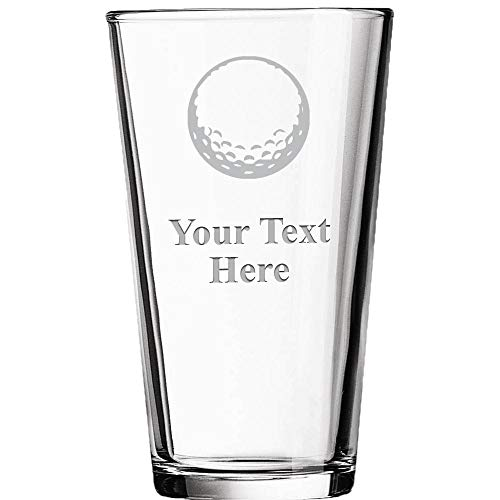 Personalized Beer Glasses, Laser Engraved Custom Pint Glass, Customized Golf Ball Gift Prime