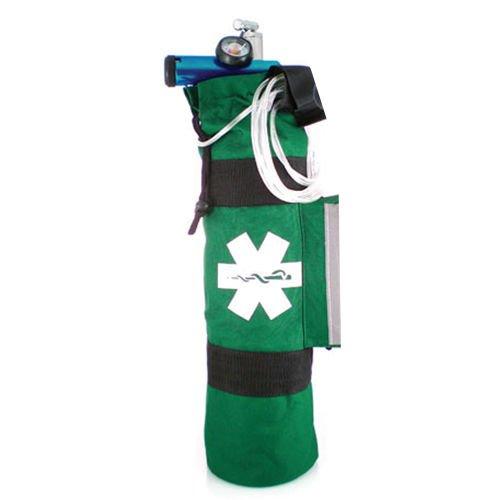 (LINE2design Oxygen Cylinder Sleeve Bag - with Star of Life Logo Green)