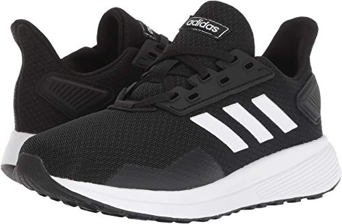 adidas Unisex-Kid's Duramo 9 Running Shoe, Black/White/Black, 3.5