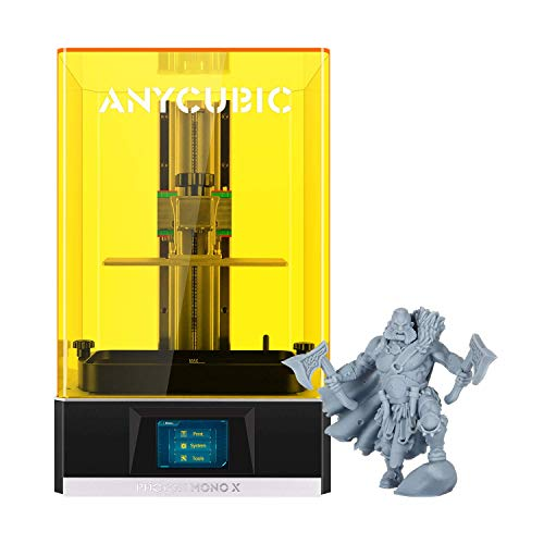 ANYCUBIC Photon Mono X 3D Printer, UV LCD Resin Printer with 8.9″ 4K Monochrome Screen, WiFi Control and Fast Printing, Printing Size 192mmx120mmx245mm / 7.55inx4.72inx9.84in