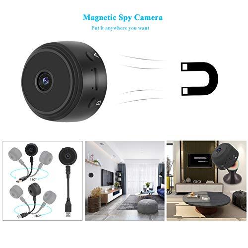 Cámaras Espía Oculta HD 1080P 120°Gran Angular Grabadora de mini vídeo Cámara con visión nocturna por infrarrojos/detección de movimiento(No soporta ...