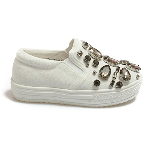Colors of California Laceup7k mädchen, canvas, sneaker slip on