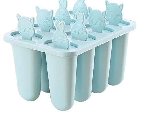 Gentle Meow Homemade Ice Pop Mold Frozen Popsicle Ice Cream Mold 8 Lattices Animal Pattern,B by Gentle Meow