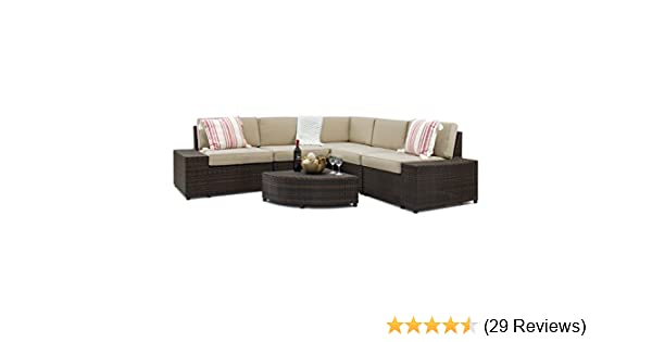 Amazon.com: Best Choice Products 6-Piece Wicker Sectional Sofa Patio  Furniture Set w/5 Seats, Corner Coffee Table, Padded Cushions, No Assembly  Required ... - Amazon.com: Best Choice Products 6-Piece Wicker Sectional Sofa Patio