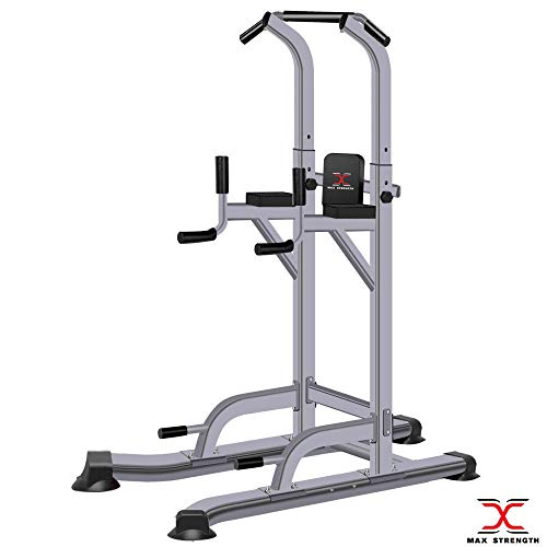 MAXSTRENGTH Multi Gyms Power Tower Dip Station Vertical Knee Raise Pull...