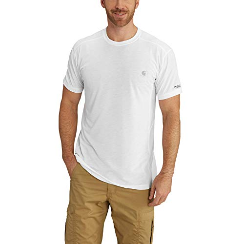 Carhartt Men's Force Extremes Short Sleeve T Shirt, White, X-Large