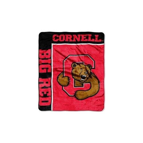 Officially Licensed NCAA Cornell Big Red School Spirit Raschel Throw Blanket, 50
