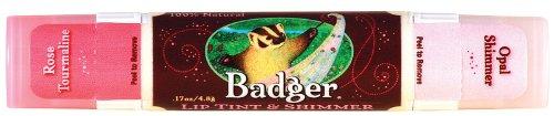 Badger Balm Lip Tint - Rose Tourmaline - 0.17 oz