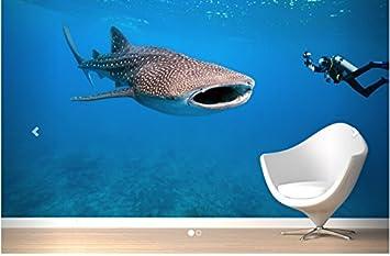Sproud Mural Whale Shark Wallpaper Sea World Modern 3D Living Room