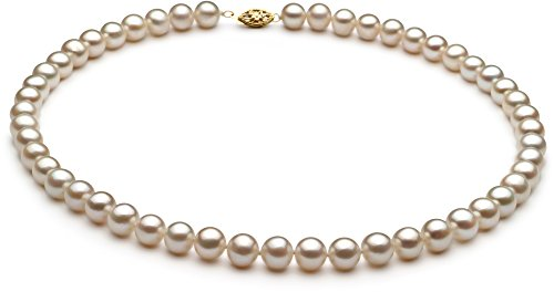 White 7.5-8.5mm AA Quality Freshwater Cultured Pearl Necklace-16 in Chocker length by PearlsOnly (Image #9)