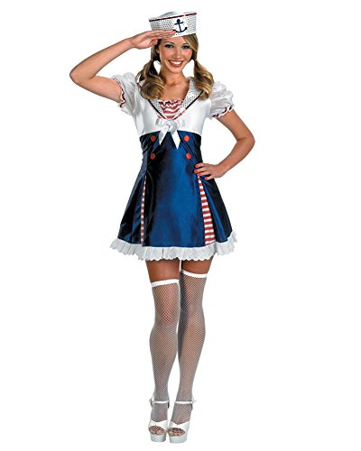 Ahoy Matey Adult Costumes (Ahoy Matey Adult Costume Sailor Girl Sailor Navy Armed Forces Sizes: One Size)