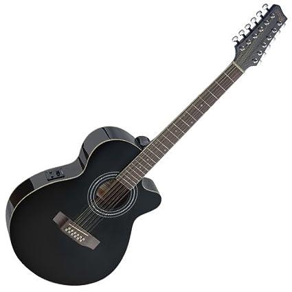 Stagg sa40mjcfi/12-n - Guitarra electroacústica: Amazon.es ...
