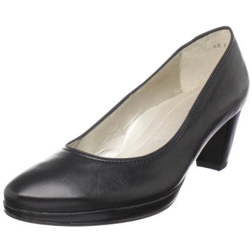 ara Women's Tacy Pump, Black Leather, 9.5 M US ()