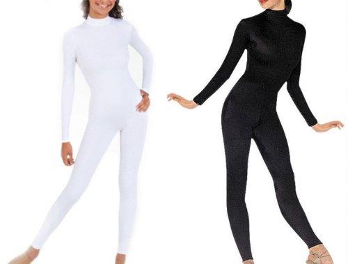 Amazon.com  BlackSunnyDay Women s Black or White Full Spandex Bodysuit  Catsuit (S 8036f57f6