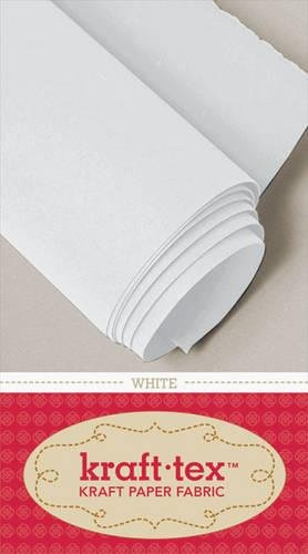"Price comparison product image kraft-tex White Original Unwashed: Kraft Fabric Paper,  19"" x 1.5 Yard Roll (kraft-tex Basics)"