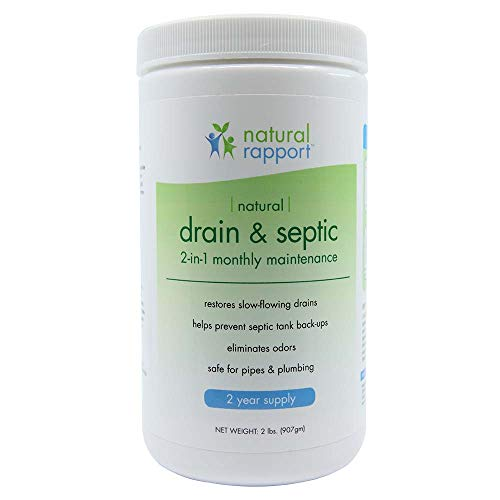 Natural Rapport Septic Tank Cleaner Treatment Naturally Treat Drains and Tanks, Professional Strength Tank Treatment and Main Drain Line Unclogger (2 lbs.)