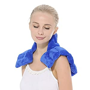 Aroma Season Neck and Shoulder Heat Pad Neck Warmer Microwave Neck Pillow for Neck Pain Heating Pad (Blue) 11