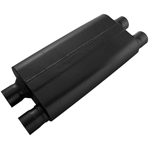 Flowmaster 42582 80 Series Muffler - 2.50 Dual IN / 2.50 Dual OUT - Aggressive Sound ()