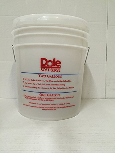 Pineapple Ice Cream (Dole Vanilla, Pineapple Soft Serve Ice Cream Mix Bucket (For Large 4.4 Pound Bag))