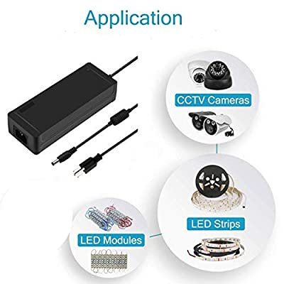 BZONE AC 100-240V to DC 24V 3A Black Color Switching Power Supply Converter Adapter for LED Rope Light Strip Lights (5.5x2.1mm DC Output Jack): Electronics