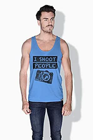 Creo I Shoot People Funny Tanks Tops For Men - Xl, Blue