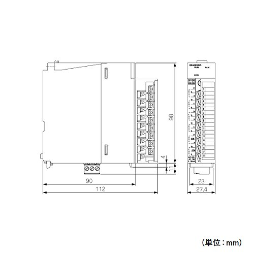 MITSUBISHI ELECTRIC Q64AD2DA Programmable Controller Digital-analog converter module NN by Mitsubishi Electric (Image #1)