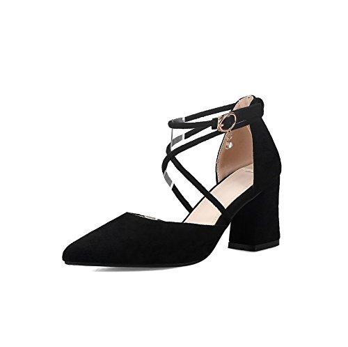 AdeeSu Sandales 36 Compensées Noir Noir EU 5 Femme RqFxwCdq