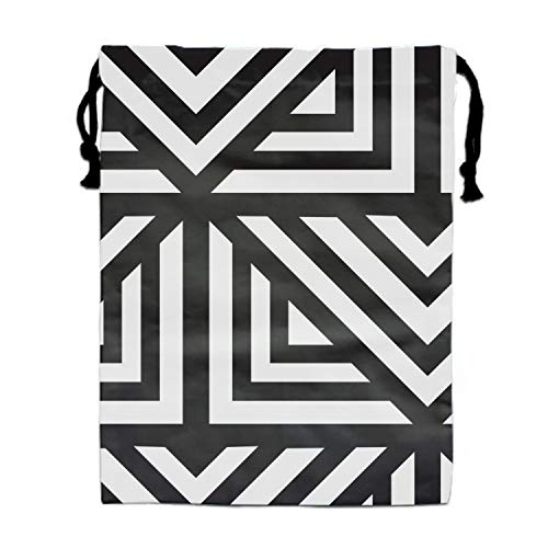 Geometric Repeating Print Drawstring Bag for Kids Party Favors Supplies Backpack Gym by yyoungsell