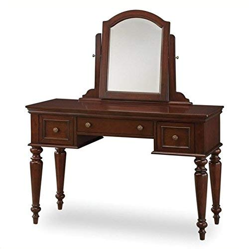 Home Styles 5537-70 Lafayette Vanity Table and Mirror, Cherry Finish - Lafayette Cherry
