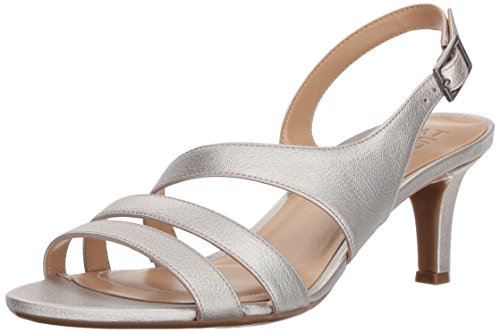 Naturalizer Women's Taimi Heeled Sandal, Silver, 9.5 M US