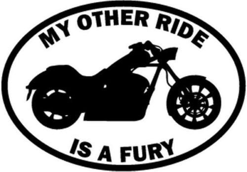 My Other Ride Honda Fury Motorcycle Motorbike Car Truck Window Decal Sticker - Die cut vinyl decal for windows, cars, trucks, tool boxes, laptops, MacBook - virtually any hard, smooth (Fury Motorcycle)