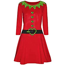 Flared Dresses for Women,Women's Loose Christmas Dresses Sexy Plus Size Casual Long Sleeve HunYUN